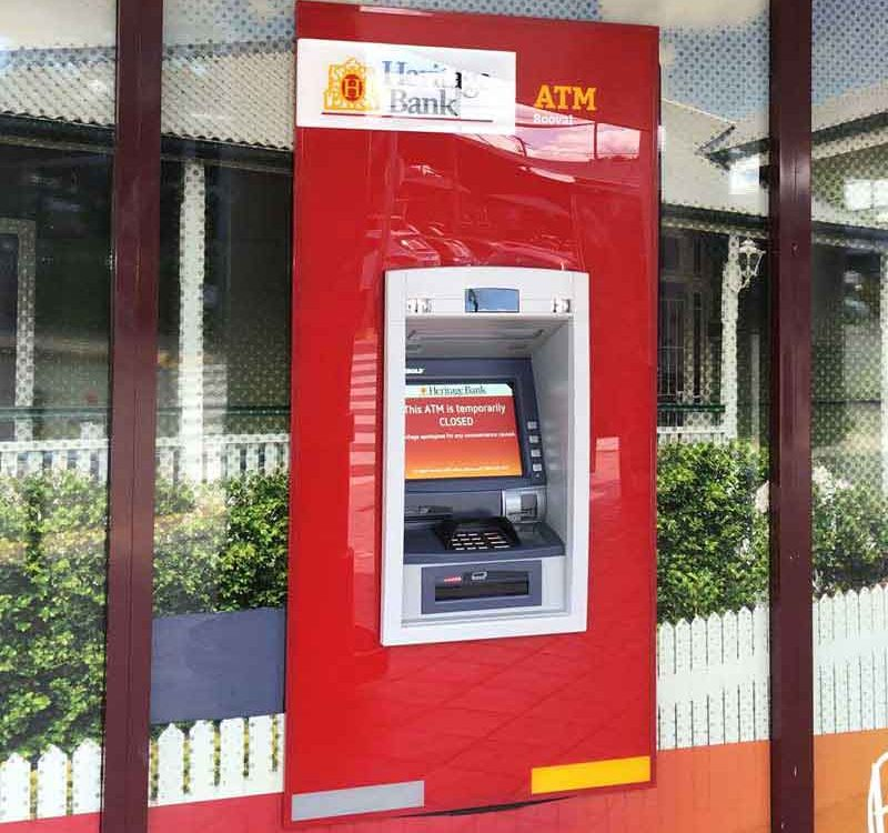 ATM Installation of ATM, surrounds, bollards and Anti-theft devices.