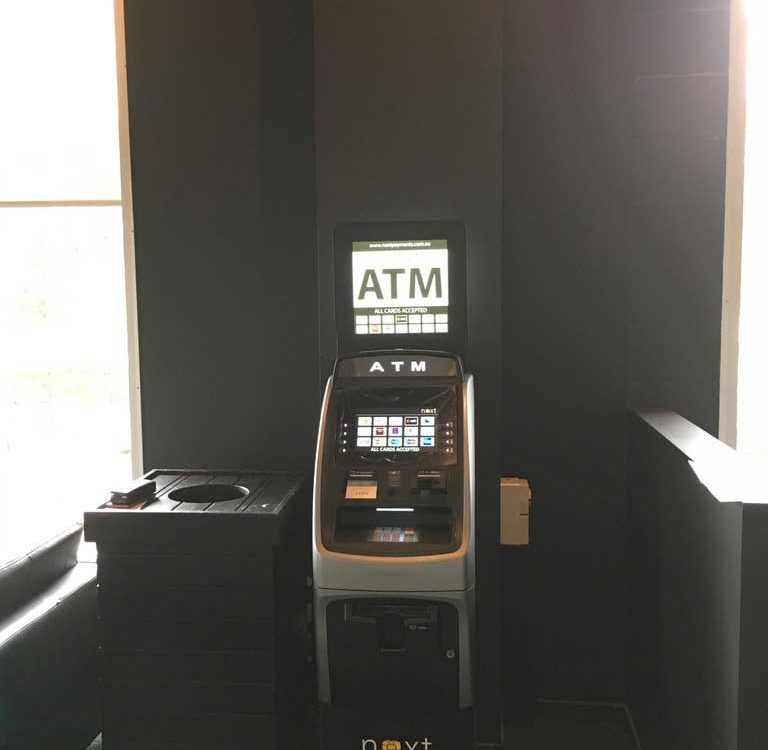 Lobby ATM installation by ATM Securities